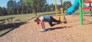 TRX Training with a Balance Pad