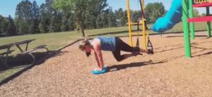 TRX Training with a Balance Pad